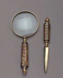 Набор для писем: лупа и нож