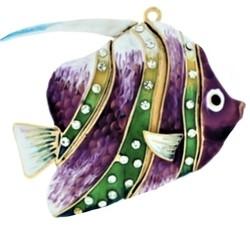 """Ёлочная игрушка """"Фиолетовая рыбка"""""""