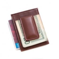 Кожаный зажим для банкнот