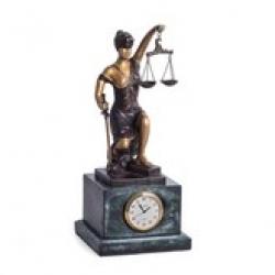 Статуэтка бронзовая с часами